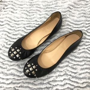 J. Crew Made in Italy Studded Leather Ballet Flats